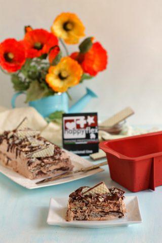 tronchetto gelato alla nutella con wafer