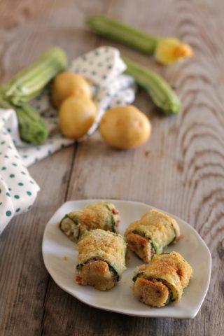 involtini di zucchine con patate e speck
