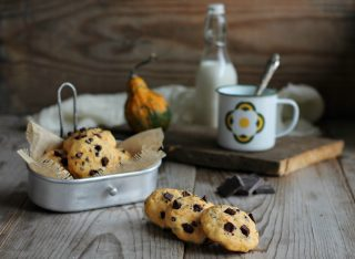 cookies alla zucca e gocce di cioccolato