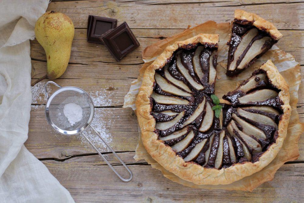 quiche di pere e cioccolato