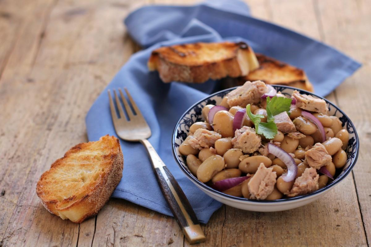 insalata di fagioli e tonno