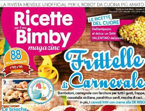 COLLABORAZIONE RIVISTA RICETTE PER IL MIO BIMBY MAGAZINE FEBBRAIO 2018