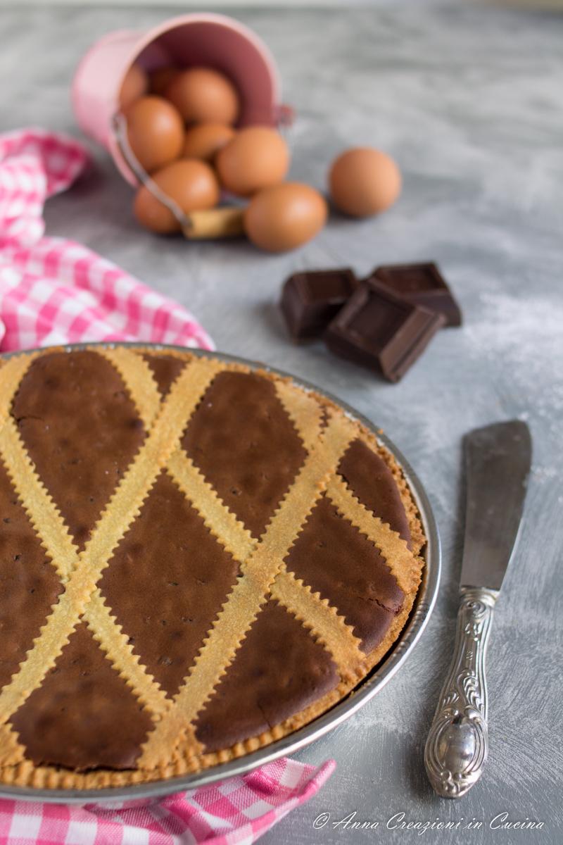 pastiera napoletana al cioccolato e rum