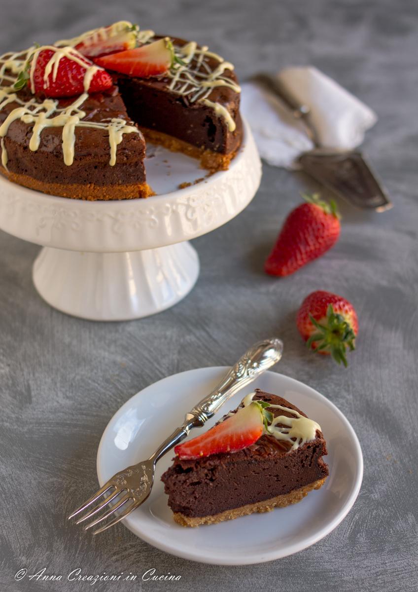 Cheesecake al cioccolato cotta con mascarpone
