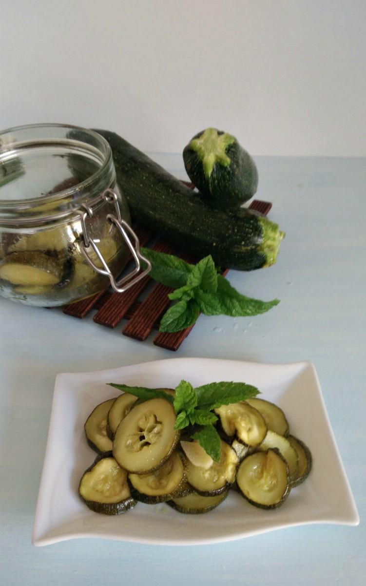 zucchine alla scapece in vasocottura al microonde
