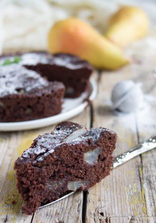 torta pere e cioccolato al microonde