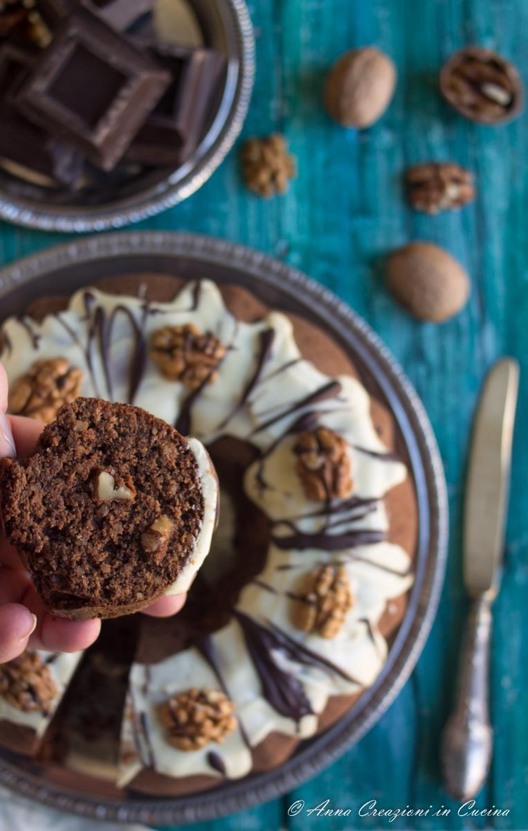 ciambella noci e cioccolato