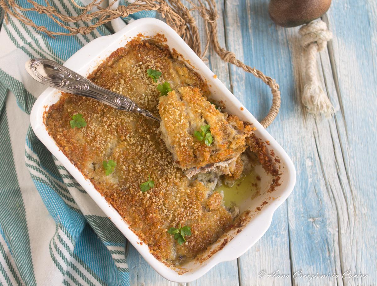 tortino di alici e mozzarella