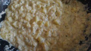 crostata di frolla di lenticchie con baccalà e carciofi