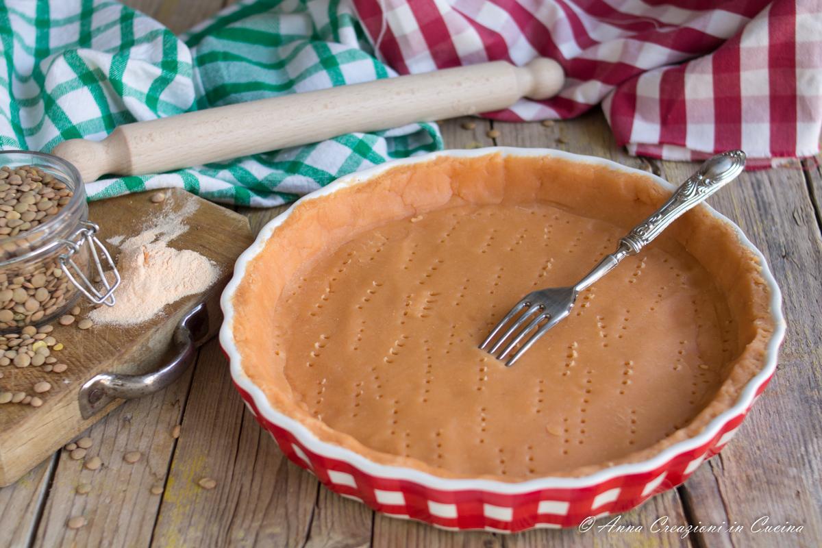 pasta frolla salata con farina di lenticchie