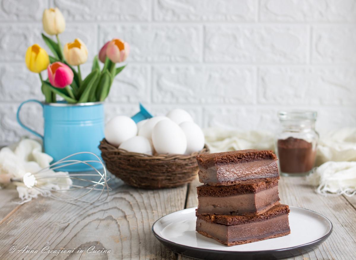 torta magica al cacao e rum