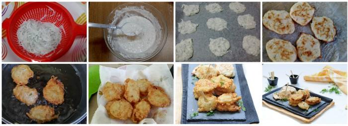 Frittelle di pesce ghiaccio fritte e al forno