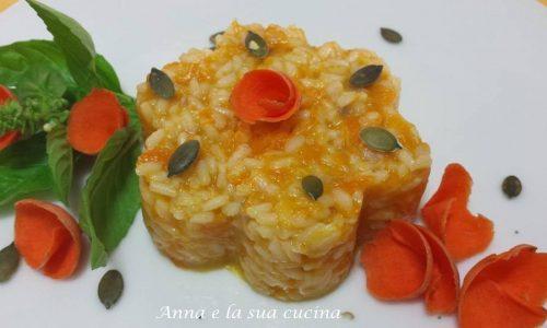 Risotto con zucca - carota - patata