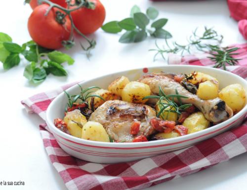 Pollo e patate al forno versione veloce