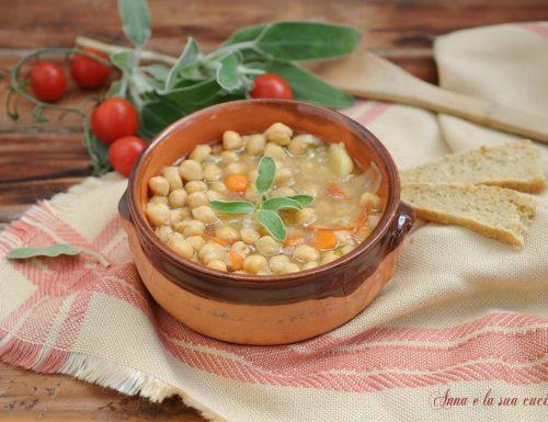 Zuppa di ceci senza soffritto
