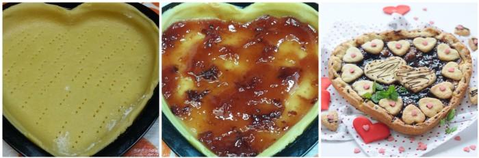 Cuore di crostata con confettura