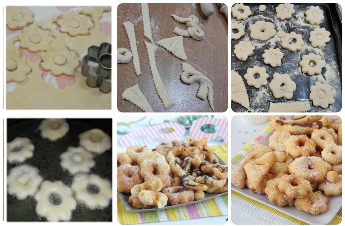 Frittelle miste di carnevale con lievito madre