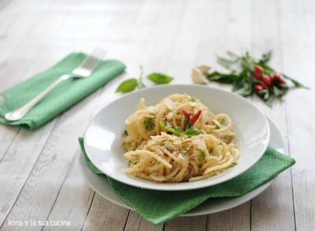 Spaghetti ammollicati con frutta secca