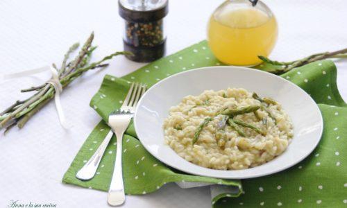 Risotto con crema di asparagi