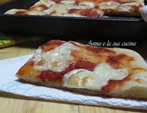 Pizza con base morbida