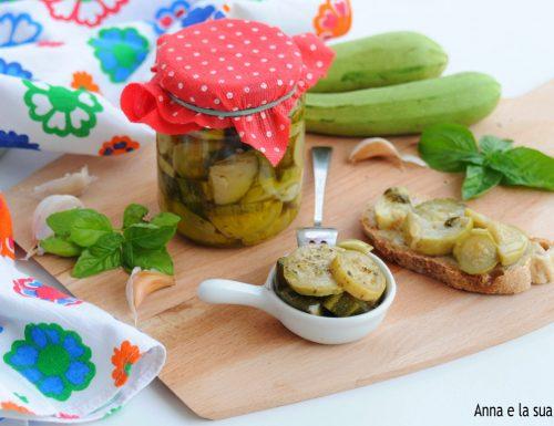 Zucchine sott'olio ricetta saporita