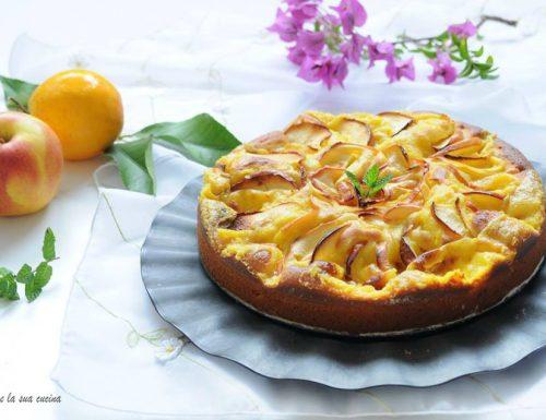 Torta di mele e crema all'arancia