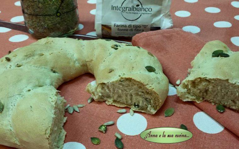 Ciambella di pane con semi