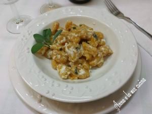 Gnocchi di patate e zucca con formaggi