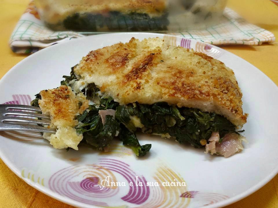 Tortino di pancarrè e spinaci
