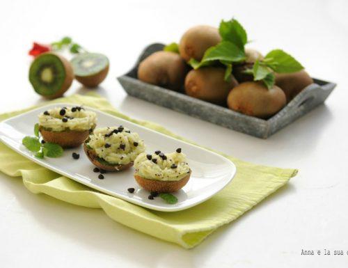 Crema al kiwi in barchetta