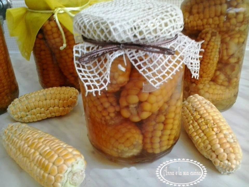 Pannocchie di mais al naturale