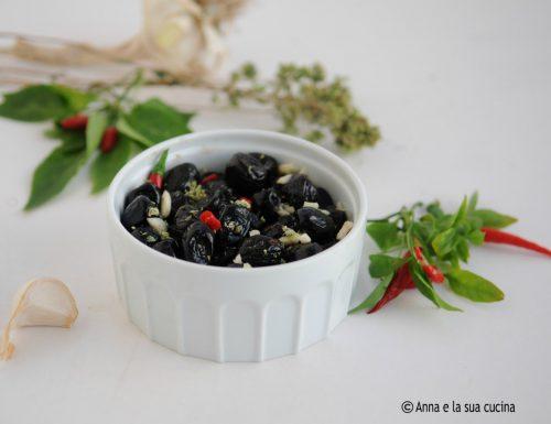 Olive nere infornate versione veloce