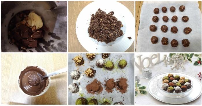 Palline al cioccolato con wafer