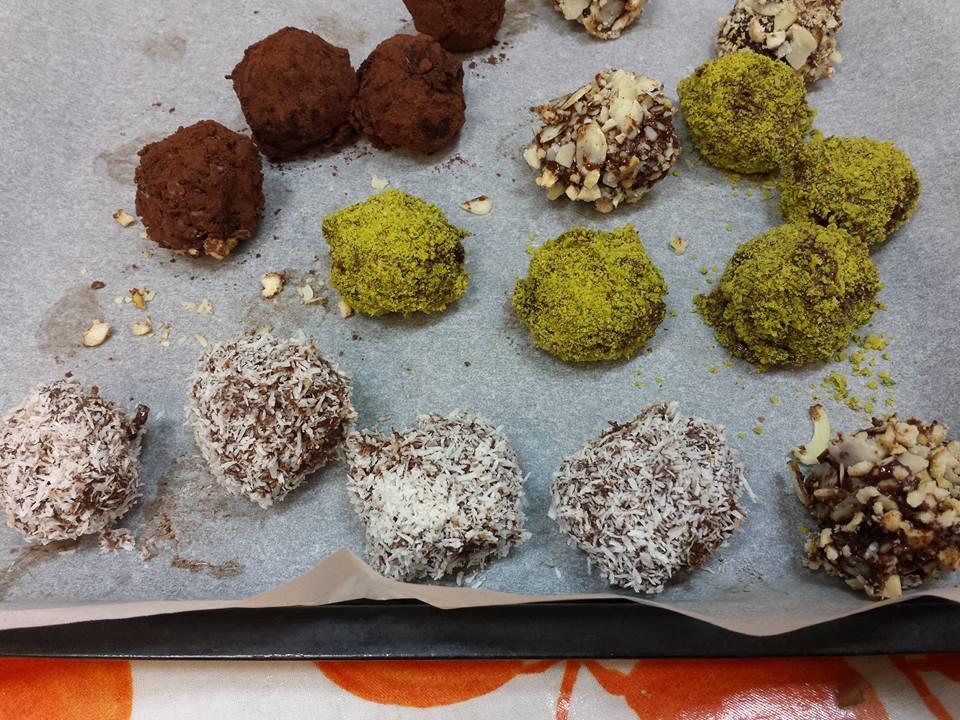 Palline di wafer al cioccolato