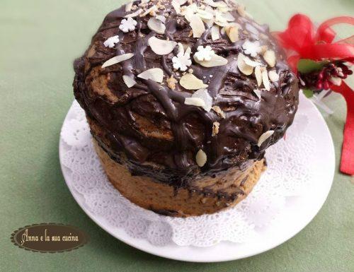 Panettone farcito con crema al cioccolato