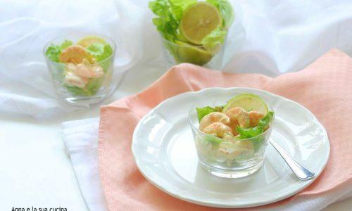 Coppe di gamberetti in salsa rosa