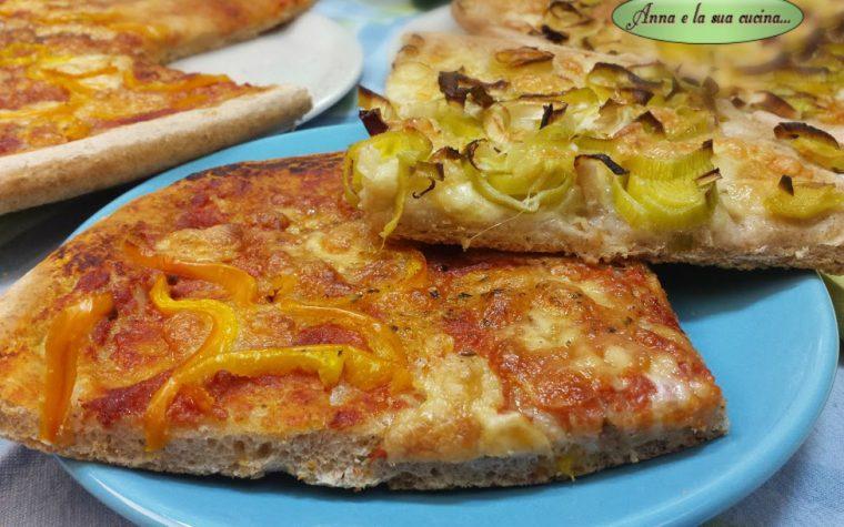 Pizza integrale con farciture miste