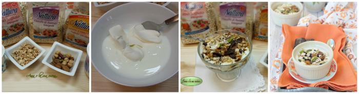 Coppa golosa con cereali e frutta secca