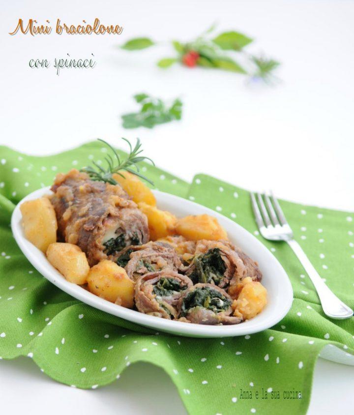 Mini braciolone con spinaci