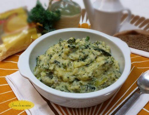 Polenta con broccoli e cavolo verza