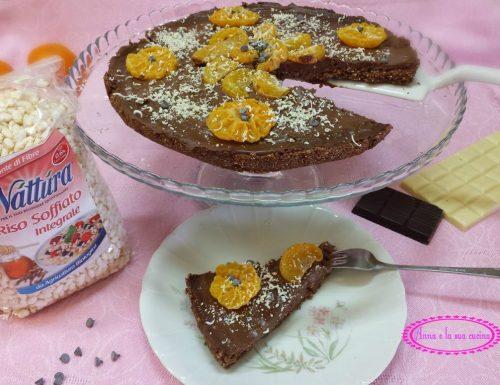 Finta crostata con riso soffiato al cioccolato