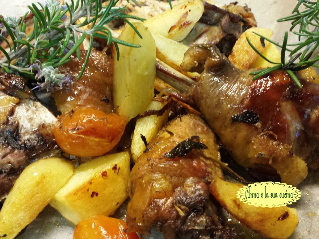 Faraona al forno con patate anna e la sua cucina - Cucinare lo sgombro al forno ...