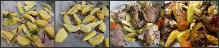 Faraona al forno con patate