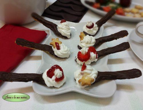 Cucchiaini di frolla e cioccolato
