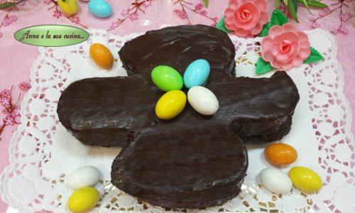 Colomba veloce con crema e cioccolato