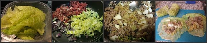 Involtini di verza con carne e patate