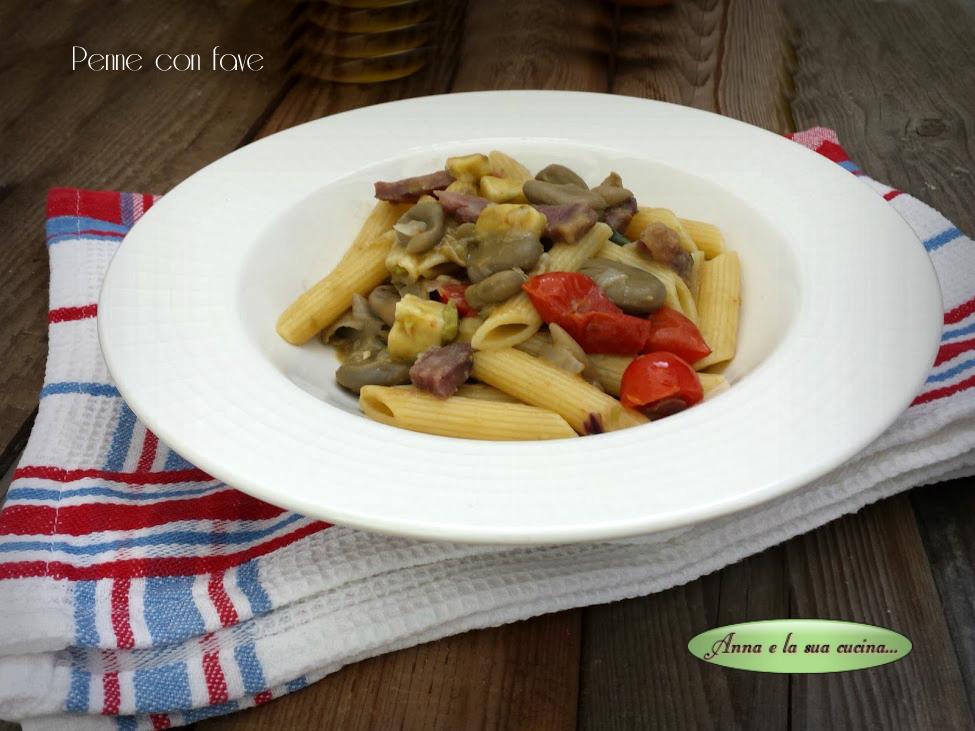 Pasta, Fave, Provolone e Salame