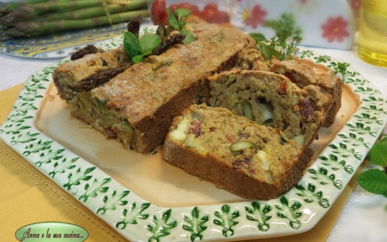 Cake salato con verdure e formaggi