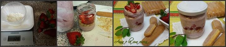 Dessert alle fragole in vasetto