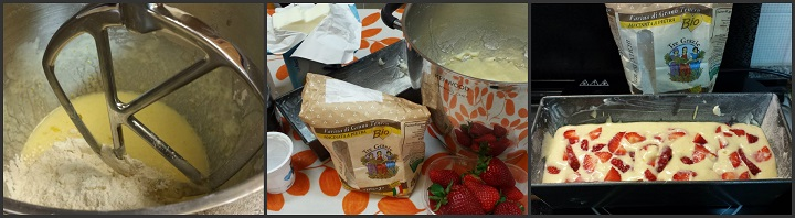 Plumcake e salsa di fragole